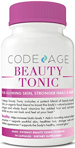 Beauty Boost Capsules - 90 Count - Organic Vegan Collagen Booster, Enhance Beauty from Within, Premium Plant-Based Collagen Builder Supplement for Softer, Firmer, Younger, Stronger, Hair, Skin & Nails