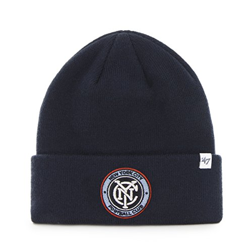 MLS New York City FC Raised Cuff Knit, One Size, Navy