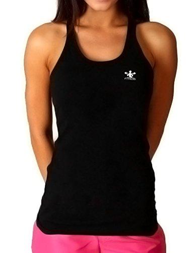 Musclealive Frauen-Gym Bodybuilding Workout Kleidung aus Baumwolle und Elasthan PLN-Black