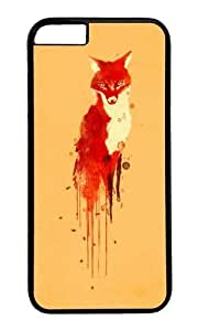 Apple Iphone 6 Case,WENJORS Awesome The fox the forest spirit Hard Case Protective Shell Cell Phone Cover For Apple Iphone 6 (4.7 Inch) - PC Black