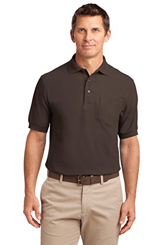 port-authority-mens-silk-touch-polo-with-pocket-l-coffee-bean