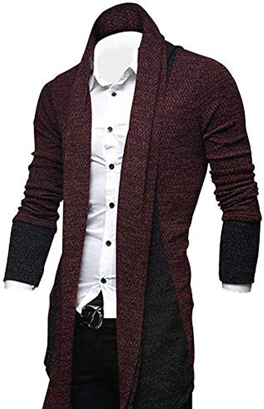Męska kurtka z dzianiny Long Hooded Pullover Open męska moda Longsleeve Cardigan Edge bluza z długim rękawem Hoodie Sweatshirt Oversize Hoody Sweater: Odzież