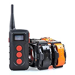 Aetertek 218C Remote Dog Pet Electric Shock Training Collar Submersible Rechargeable E-collar (For two dogs)
