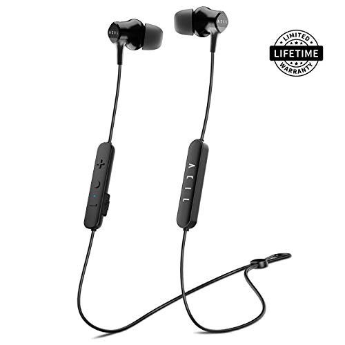 Bluetooth Headphones - Stereo Wireless In-ear Headphones Sweatproof, Dynamic Drivers & Knowles Balanced Armature, High-fidelity Sport Earbuds, Noise Cancelling, Up to 98% at High Frequency Band