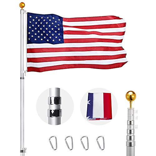 Heavty Heavy Duty 20FT Telescoping Flag Pole