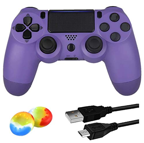 Juego Game Controller for PS4,Wireless Controller for Playstation 4/ Windows/ Android/iOS, Electronic Purple