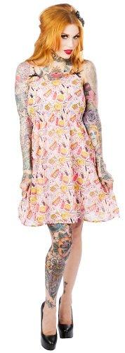 Women's Sourpuss Clothing Shake & Shimmy Dress Pink S
