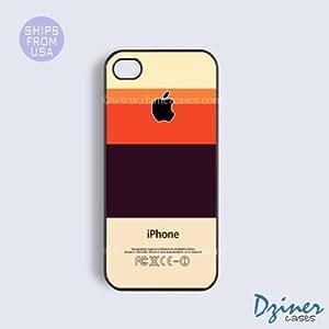 iPhone 5c Case - Cream Black Multi Stripes Design iPhone Cover