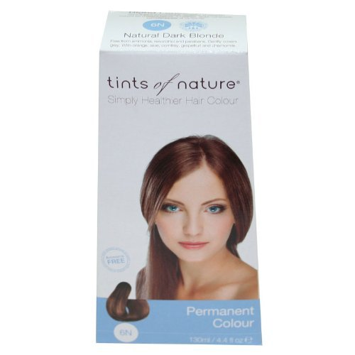 Tints of Nature Conditioning Permanent Hair Color, Natural Dark Blonde 6N, 4.4 fl oz (6 Pack) by Tints of Nature