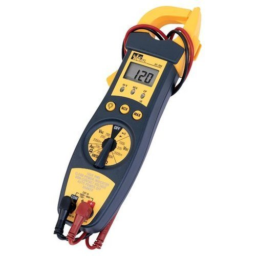 Ideal Industries 61-704 True RMS Clamp-Meter, 200A AC, Conductors to 33mm, Voltage, Capacitance, Frequency, and Resistance Measurement from Ideal Industries