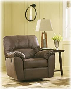 ashley furniture signature design amazon rocker recliner pull tab manual reclining walnut - Ashley Furniture Recliners