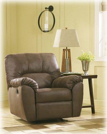 ashley furniture signature design amazon rocker recliner pull tab manual reclining walnut