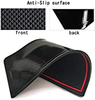 Auovo Anti Dust Mats for Mercedes-Benz C-Class C300 Sedan Coupe 2015-2020 Custom Fit Door Compartment Liners Cup Holder Console Liners Interior Accessories 8pcs//Set Red