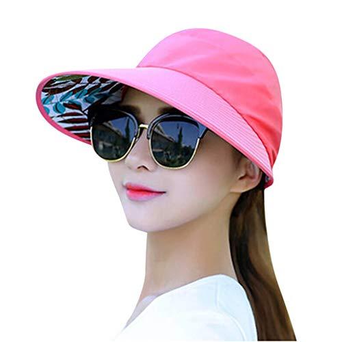 NEEKEY Sun Cap Summer Women Outing Duck-Tongue Hat Large Wide Brim UV Protection Beach Packable Cap ()