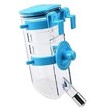 SODIAL(R)Dog Cat Puppy Drinking Water Bottle Pet Water Dispenser Pet Water Feeder - Blue