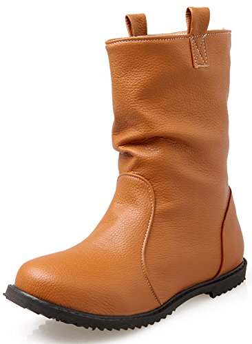 Brown Biker Boots For Women - 5