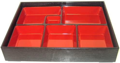 Lacquer Bento Lunch Box w// Tray