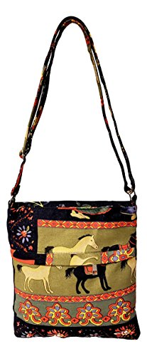 Horses or the Printed Women Canvas Bag Over Girls Crossbody Boho Teens for Shoulder Xtq67X
