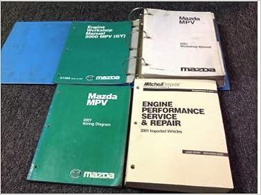 2001 mazda mpv van workshop service repair shop manual oem factory w ewd +  eng +: mazda: amazon com: books