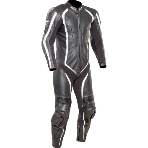BILT Predator One-Piece Perforated Leather Motorcycle Suit - 44, Black