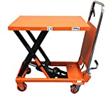 CasterHQ - MIGHTY LIFT LT330 HYDRAULIC SCISSOR LIFT TABLE - FOLDING - 330 LB CAPACITY LIFT TABLE - Compact and Convenient Scissor Lift Table - Prevent Back Strain and Increase Productivity