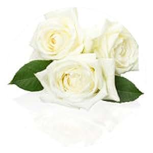 alfombrilla de ratón rosas blancas aisladas en el fondo blanco - ronda - 20cm