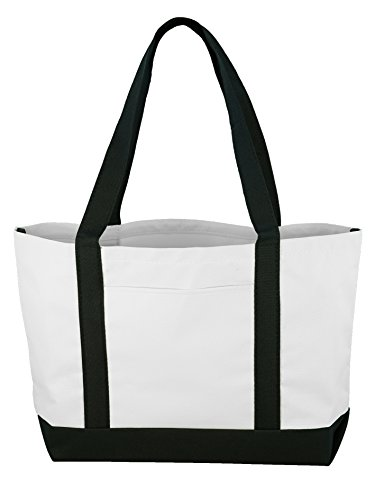 Daily Tote- Black/white -