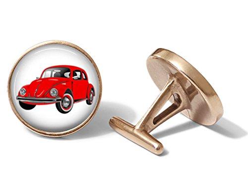 Red Beetle Cufflinks (Solid Bronze)