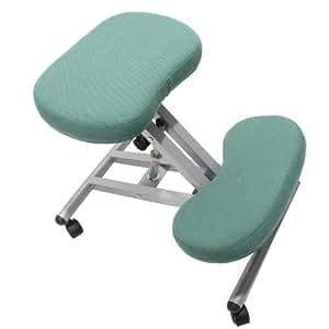Homy - Silla ergonomica de Rodilla ortopédica PRESIDENTE, en tejido color verde
