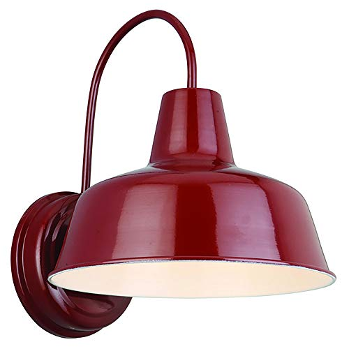Design House 520559 Mason 1 Light Indoor/Outdoor Wall Light, Rustic Red