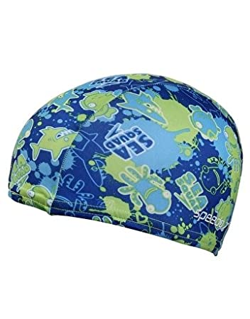Speedo Sea Squad Polyester Swim Cap Blue  Amazon.co.uk  Sports   Outdoors 2a2a606a3b92