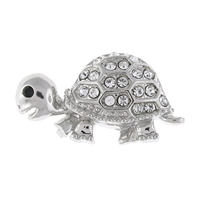 Amazon com: Brooches Store Silver Plated and Clear Swarovski