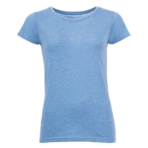 SOLS Camiseta de manga corta para chica/mujer Azul marino jaspeado