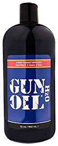 GUN OIL H2O Water-Based Lubricant - Hypoallergenic Water-Based Lubricant Enriched With Aloe Vera & Ginseng Extract for Maximum Comfort And Long-Lasting Lubrication ( 32 Fluid Ounce - 1000 Milliliter )