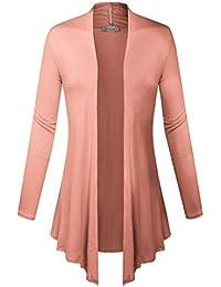 Women Open Front Lightweight Soft Drape Light Sweater...