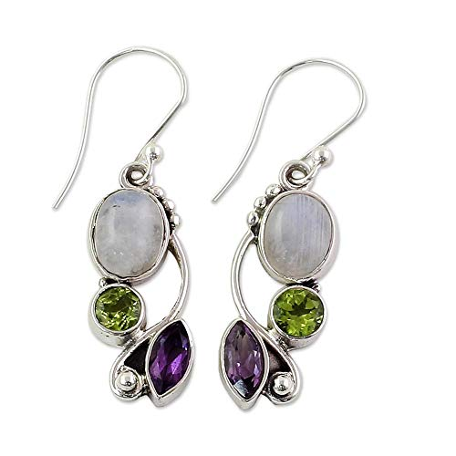 Emerald Amethyst Dangle Hook E...