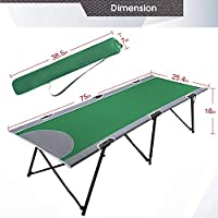 Portal Folding Portable Camping Cot Stable Collapsible Adult Travel Cot Bed With Carry Bag Support 300lbs Green 38 5 L X 5 5 W X 7 H Pr Bd630 189106 Gr Amazon Sg Sports Fitness Outdoors