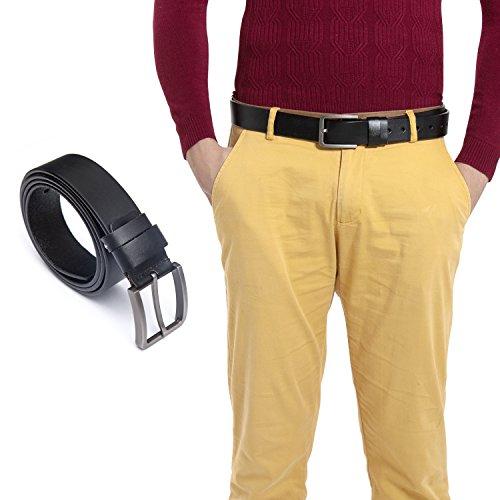 Vintage Designer Belts (HBY Men Vintage Leather Belts Simple Casual Soft Designer Belt With Pin)