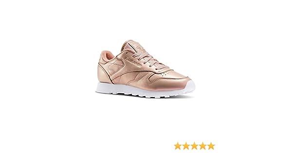 Reebok Zapatillas de Deporte Classic para Mujer de Piel perlada Bd4308, Mujer, BD4308, Rosa, Size UK3