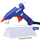 Blusmart Mini Hot Glue Gun with 50 Pieces Melt Glue Sticks, 20 Watts
