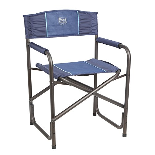Timber Ridge Viburnum Folding Director's Chair, Blue (Outdoor Directors Chairs)
