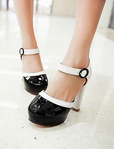 ShangYi Womens Shoes Heel Heels / Platform Sandals / Heels Outdoor / Dress / Casual Black / Blue / Yellow / Red/M-1 Red