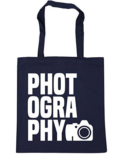 HippoWarehouse fotografía bolsa de la compra bolsa de playa 42cm x38cm, 10litros azul marino