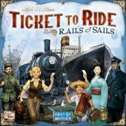 [해외]아 스 모 디 레일 및 세일즈 티켓을 타고 보드 게임 / Asmodee Rails And Sails Ticket To Ride Board Game