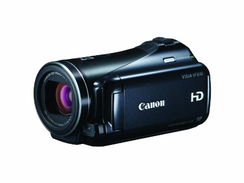 (Canon VIXIA HF M40 Full HD Camcorder with HD CMOS Pro and 16GB Internal Flash Memory)
