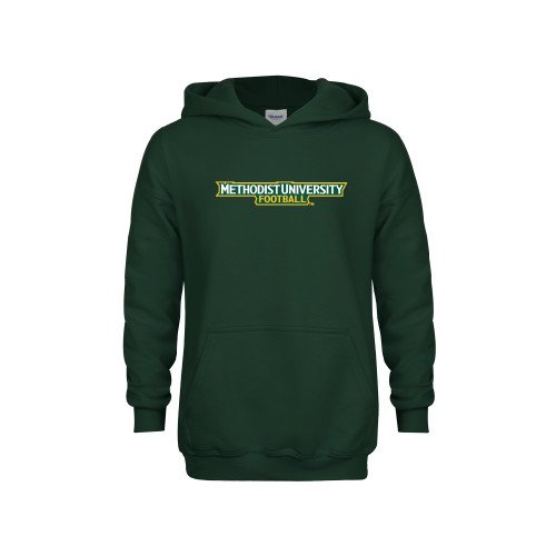 Methodist Youth Dark Green Fleece Hoodie Football