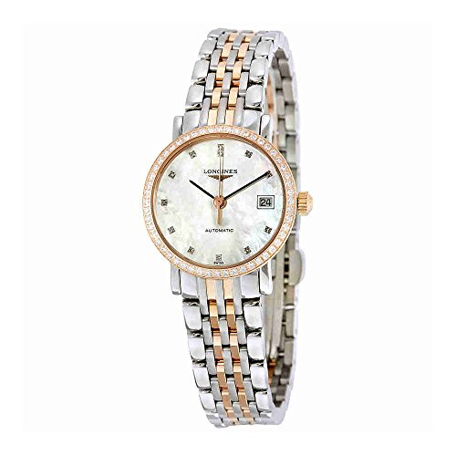 Longines-Elegent-Ladies-Automatic-Pink-Gold-Diamonds-25-MM-L43095887