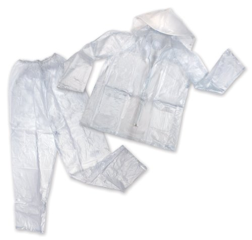 Stansport Men's Vinyl Rainsuit with Hood, Clear, X-Large (Vinyl Stansport)