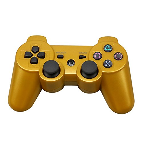 ps3 wireless controller gold - 9