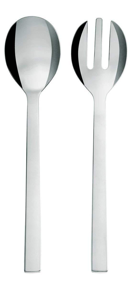 Alessi DC05/14''''Santiago'' Salad Set, Silver by Alessi